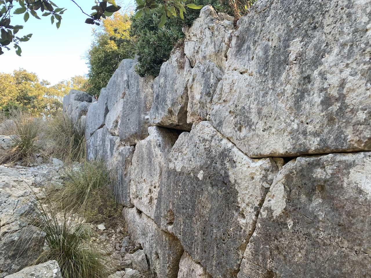 san felice Circeo Polygonall Wall